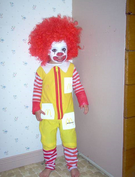 ronald mcdonald halloween scary